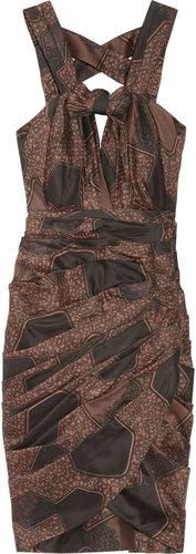 Burberry Prorsum Printed silk and cotton-blend dress