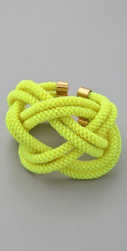 Noir jewelry Shaka Neon Knot Bracelet