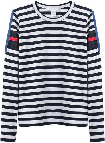 Comme Des Garçons Shirt / Tartan Striped T-Shirt