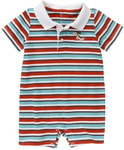 Stripe Polo One-Piece