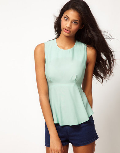 ASOS Sleeveless Top With Peplum