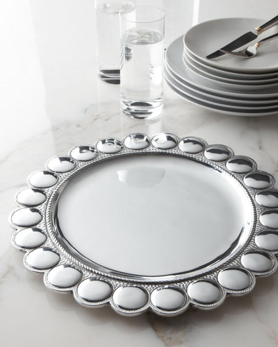 """""""Large Beads"""" Charger Plate"""