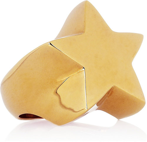 Stella McCartney Polished gold-tone star ring