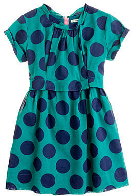 Girls' organdy poppet dress in super dot