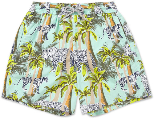 Vilebrequin Moorea Mid-Length Jungle-Print Swim Shorts