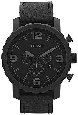 Fossil Men ́s Nate Oversized Black Dress Watch