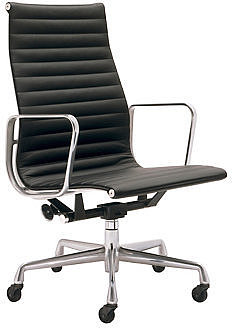 Eames Aluminum Executive Chair - Vicenza Leather