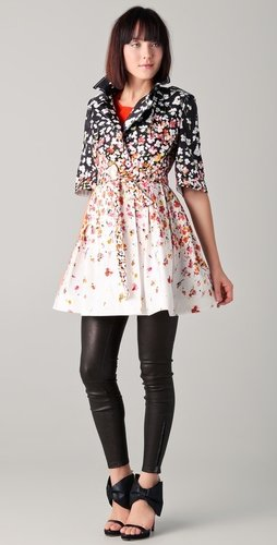 Red valentino Floral Coat