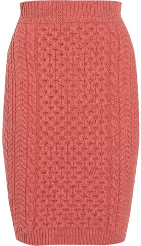 Stella McCartney Cable-knit wool mini skirt