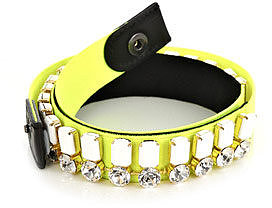 Vionnet Crystal-embellished neon belt