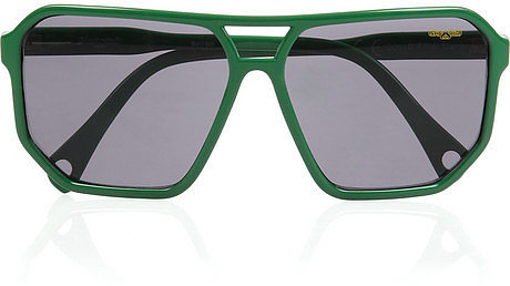 Glassing Scientist hexagon D-frame  acetate sunglasses