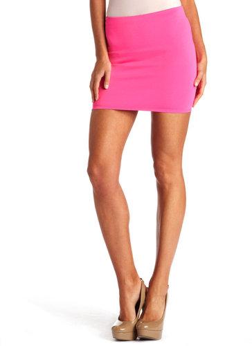 Scuba-Knit Mini Skirt
