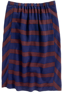 Picket-stripe skirt