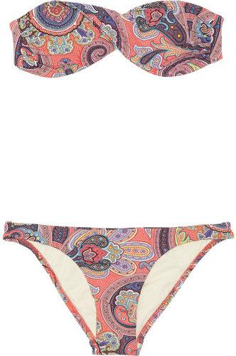 Melissa Odabash Martinique paisley-print bandeau bikini