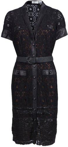 Byron Lars LACE SHIRT DRESS