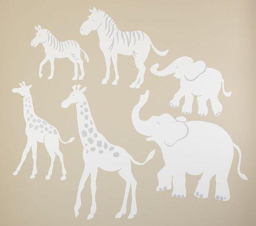 White Safari Animal Decals