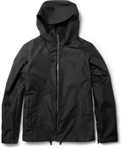 Balenciaga Leather-Trimmed Lightweight Jacket