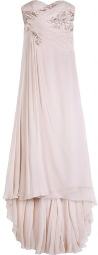 Marchesa EMBELLISHED SILK GOWN