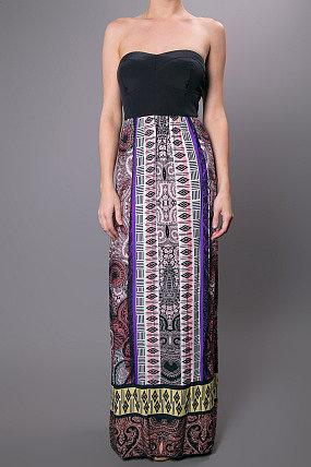 Twelfth Street by Cynthia Vincent Corset Maxi Dress