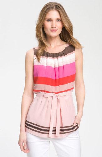 Classiques Entier Atelier 'Françoise' Sleeveless Stripe Silk Blouse