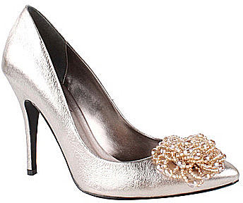 J. Renee Poppy Metallic Pumps