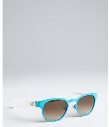 Kate Spade pool blue metal and acrylic 'Arie' sunglasses