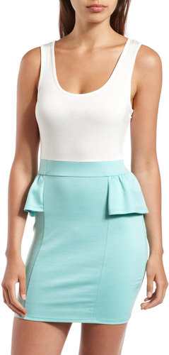 Peplum 2-Fer Tank Dress