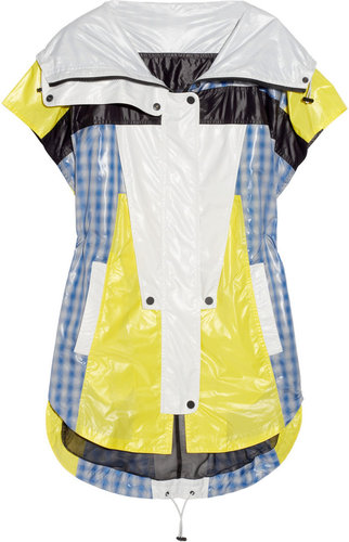Alexander Wang Color-block and plaid patchwork windbreaker