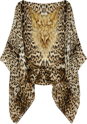 Roberto Cavalli Printed silk-chiffon top