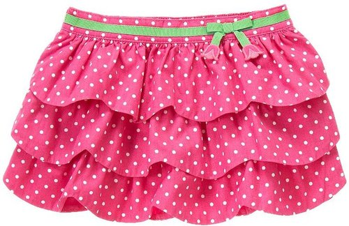 Tiered Polka Dot Bow Skirt