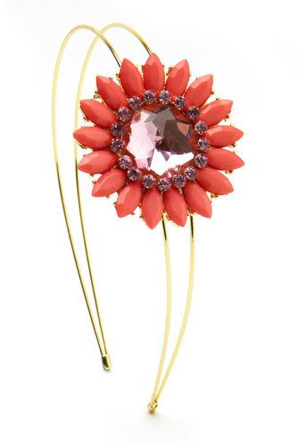 Coral-Flower Double Headband