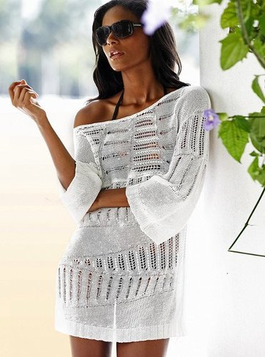 Off-the-shoulder Tunic Sweater