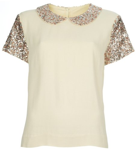 By Malene Birger Sequin blouse
