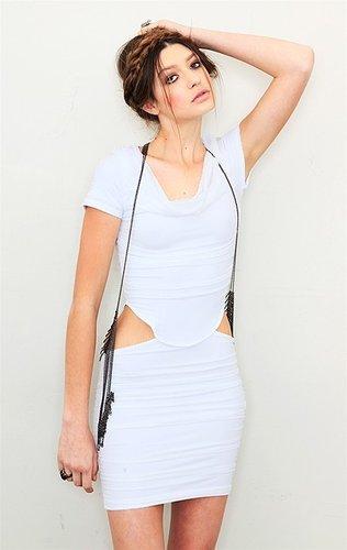 boulee Short Sleeve Mini Cut Out Dress