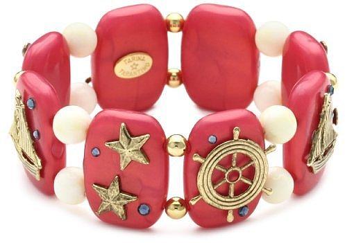 """TARINA TARANTINO """"Hey Sailor"""" Stretch Nautical Cuff Bracelet in Regatta"""