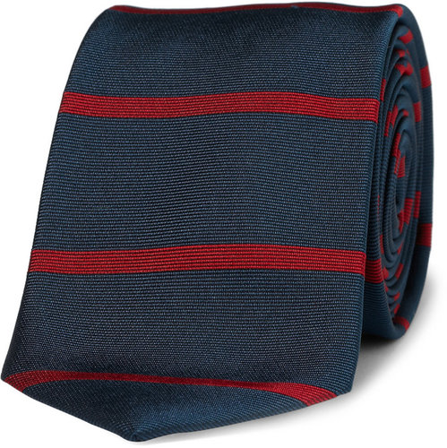 J.Crew Byrnes Slim Striped Silk Tie