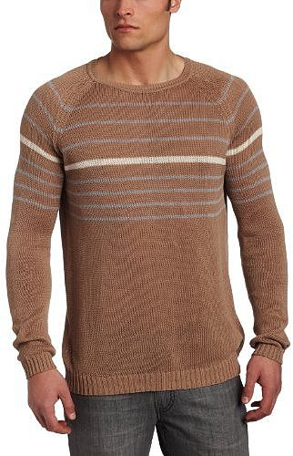 Ben Sherman Men&#039;s Plectrum Relaxed Crew Neck Stripe Sweater