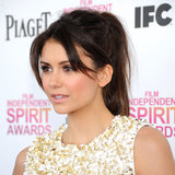 Nina Dobrev Spirit Awards 2013 Hair