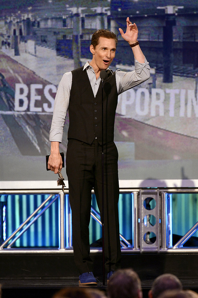 Matthew McConaughey took home the award for best supporting actor for his work in Magic Mike.