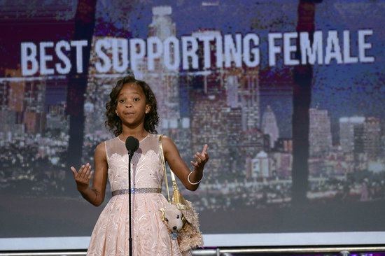 Quvenzhané Wallis attended the 2013 Film Independent Spirit Awards.