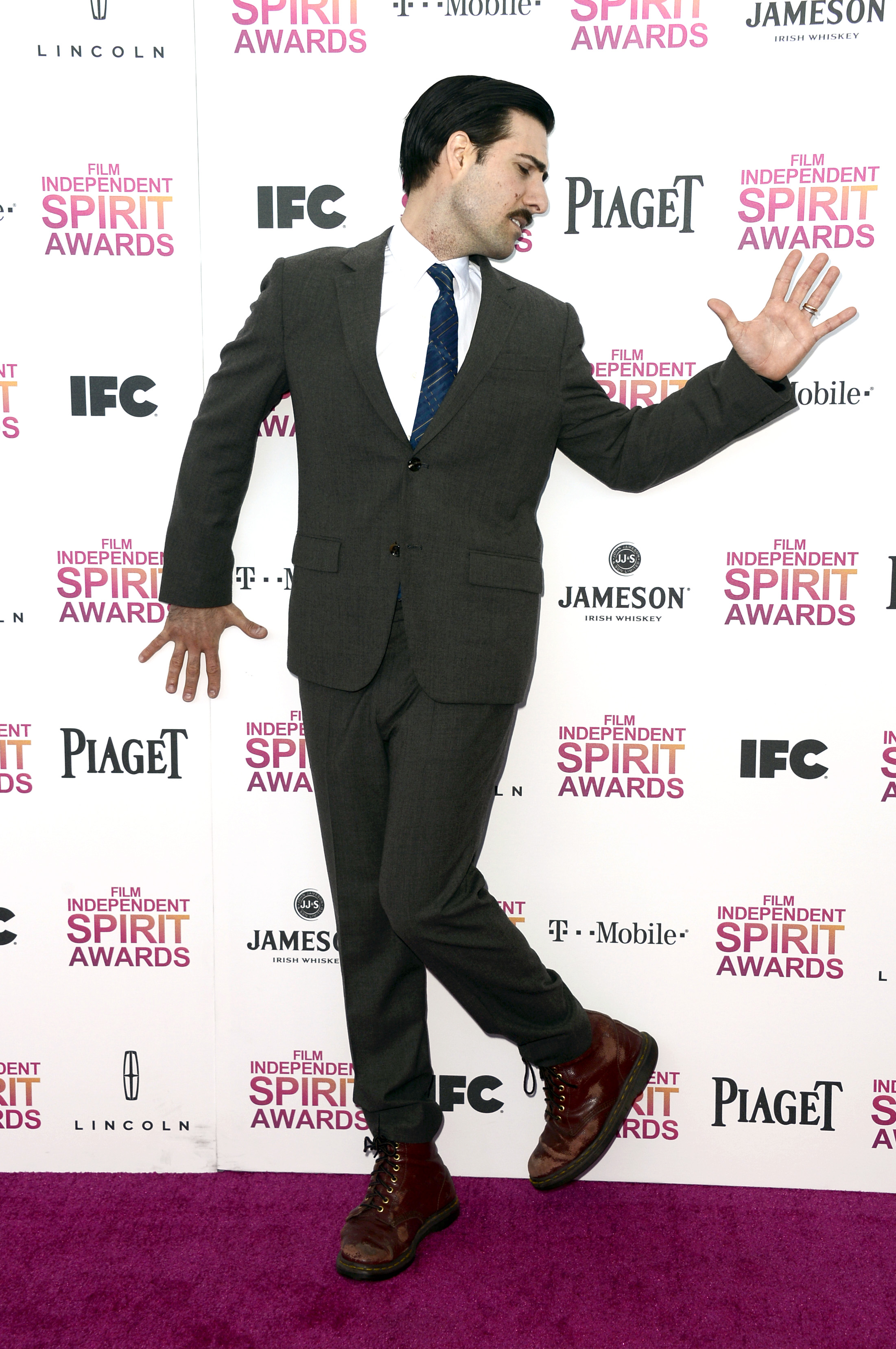 Jason Schwartzman on the red carpet at the Spirit Awards 2013.