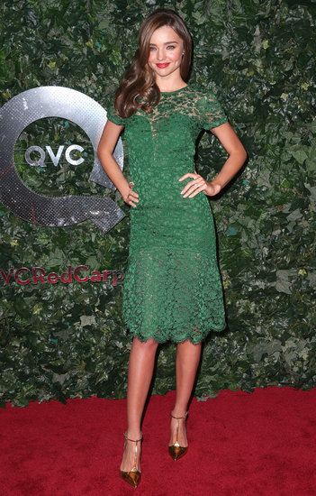 Miranda Kerr attended QVC's Red Carpet Style event at the Beverly Hills Four Seasons Hotel.