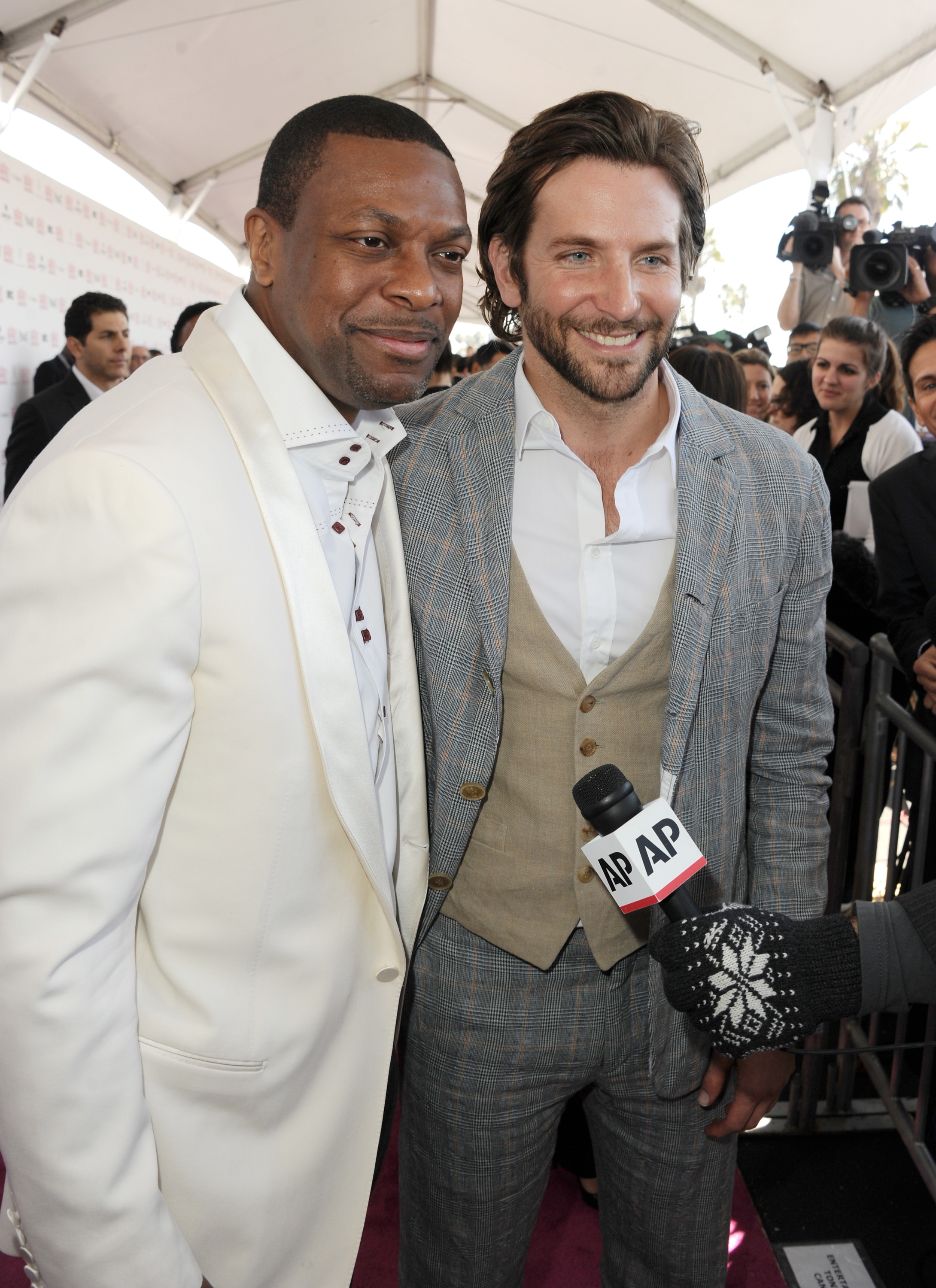 Chris Tucker and Bradley Cooper on th