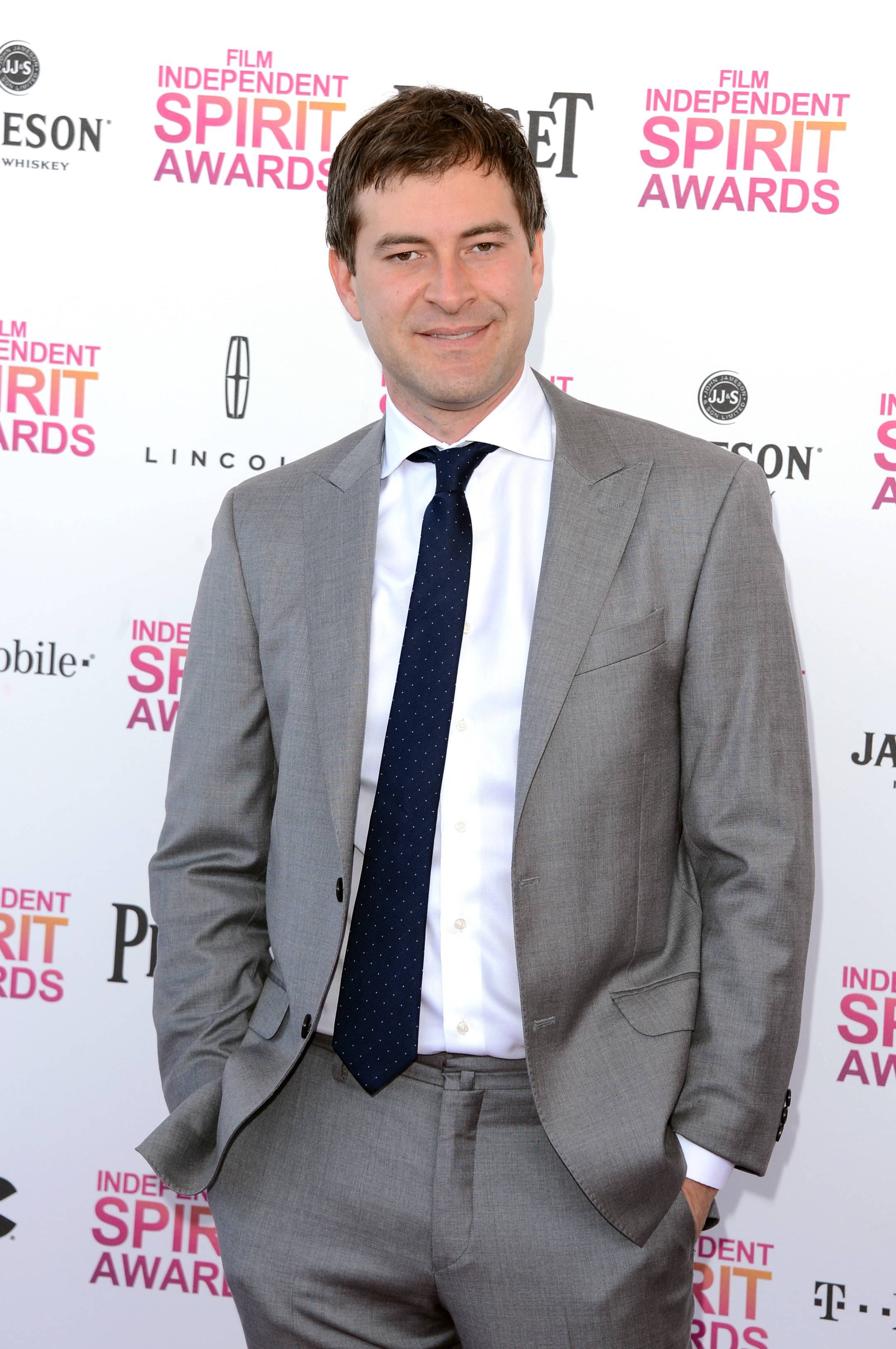 Mark Duplass on the red carpet at the Spirit Awards 2013.