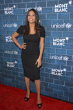 Rosario Dawson went classic in a black sheath dress and peep-toe pumps at the Montblanc and UNICEF pre-Oscars brunch.
