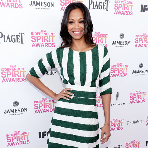 Zoe Saldana Spirit Awards Dress 2013 | Pictures