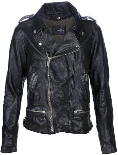 Golden Goose Deluxe Brand creased effect leather jacket