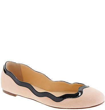 Scalloped ballet flats