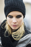 Elsa Sylvan pulled off a fierce smoky eye look. Source: Le 21ème | Adam Katz Sinding