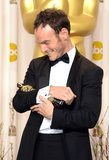 Chris Terrio embraced his Oscar.